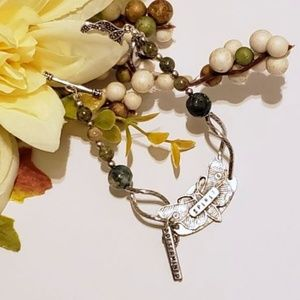 Gemstone Spirit Guide Charm Bracelet